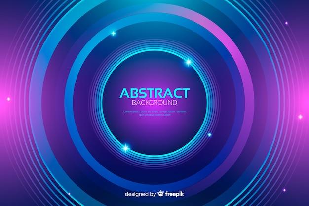 Абстрактные красочные круги фон Бесплатные векторы