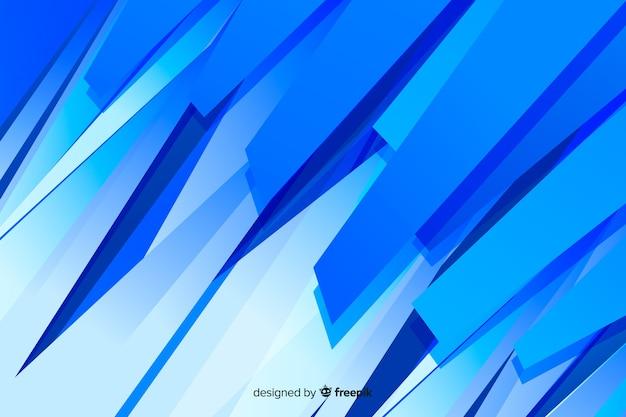 抽象的な青い図形のミニマリストの背景 無料ベクター