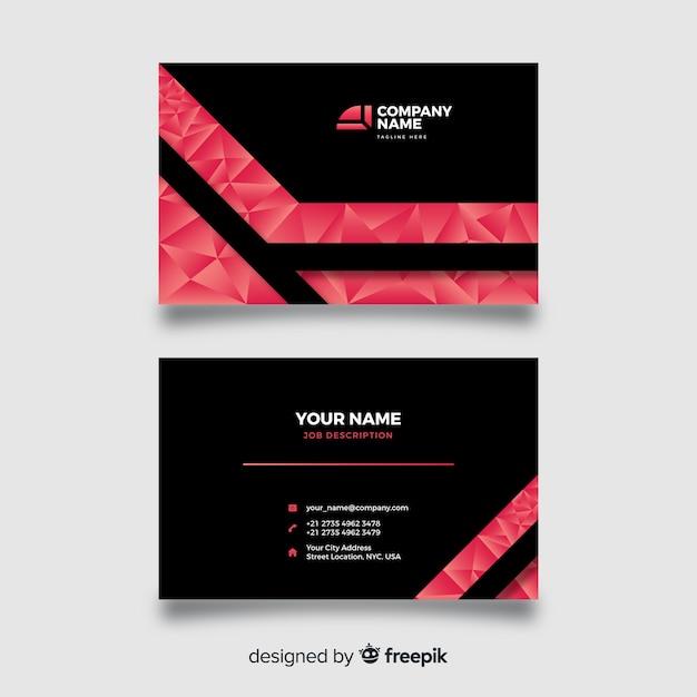 Абстрактная полигональная визитная карточка Бесплатные векторы