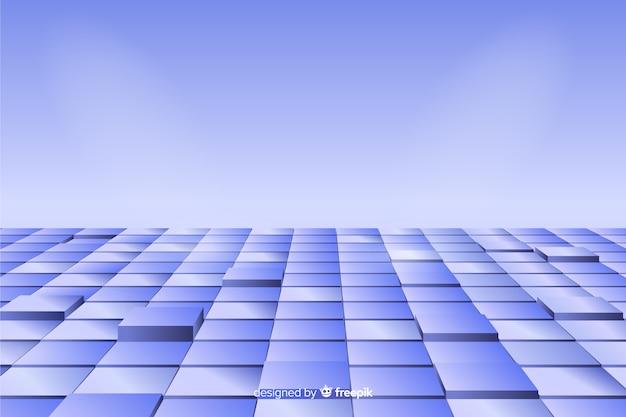 Реалистичная перспектива кубов пола фон Бесплатные векторы