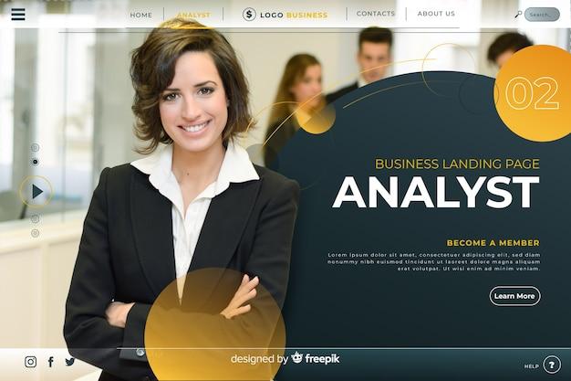 Аналитик бизнес целевой страницы Бесплатные векторы