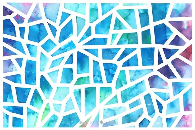 水彩三角形ガラスモザイクの背景 無料ベクター
