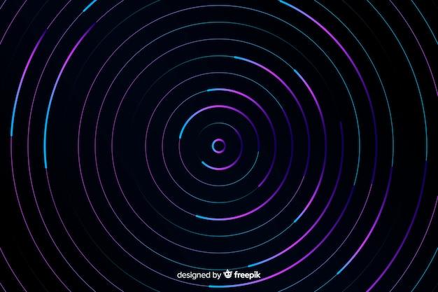 抽象的なカラフルなサークルの背景 無料ベクター