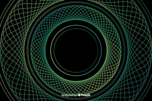 背景の抽象的なカラフルなサークル 無料ベクター