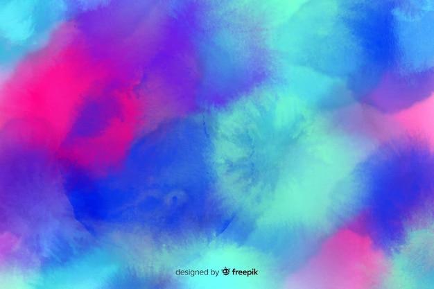手描きの水彩画のパステル背景 無料ベクター