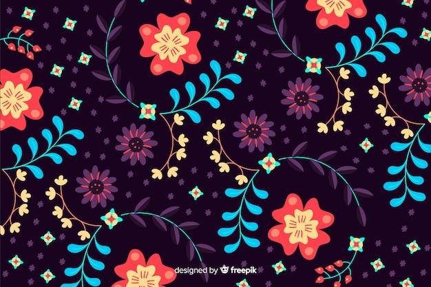 美しい花の背景デザイン 無料ベクター