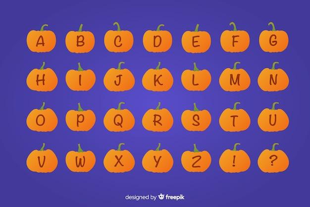 Хэллоуин тыква алфавит Бесплатные векторы