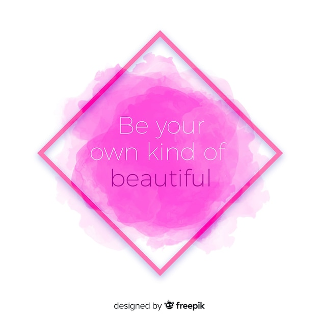 ピンクの水彩染色に関する肯定的なメッセージ 無料ベクター