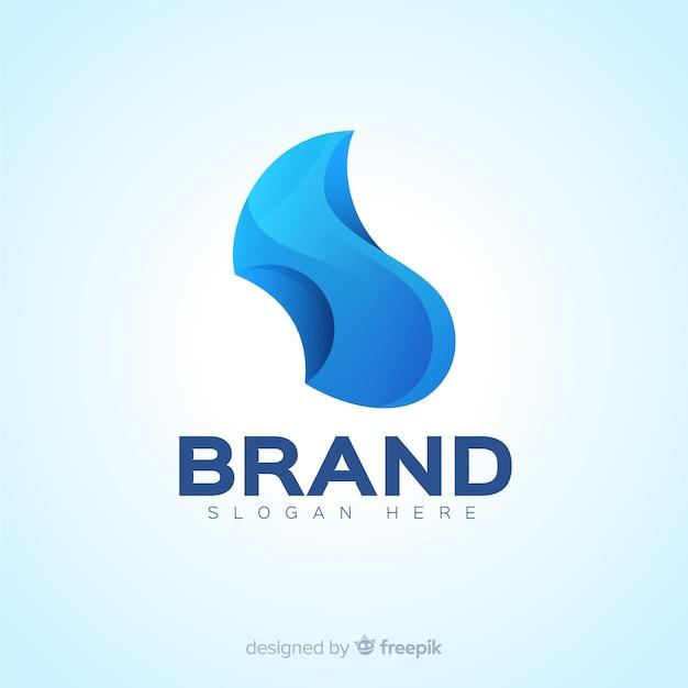 Градиент абстрактный логотип в социальных сетях Бесплатные векторы