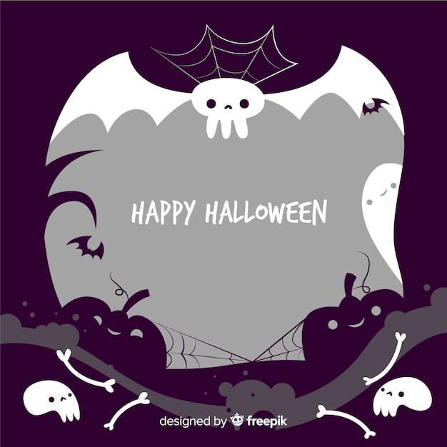 Ручной обращается хэллоуин жуткий кадр Бесплатные векторы