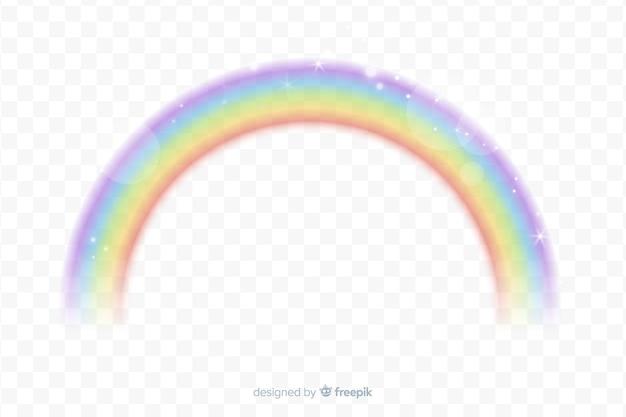 Реалистичная радуга с прозрачным фоном Бесплатные векторы