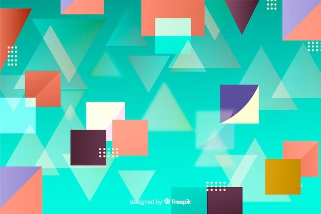 Абстрактные геометрические фигуры фон Бесплатные векторы