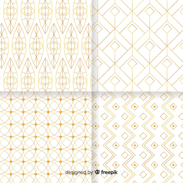 Коллекция геометрических узоров Бесплатные векторы