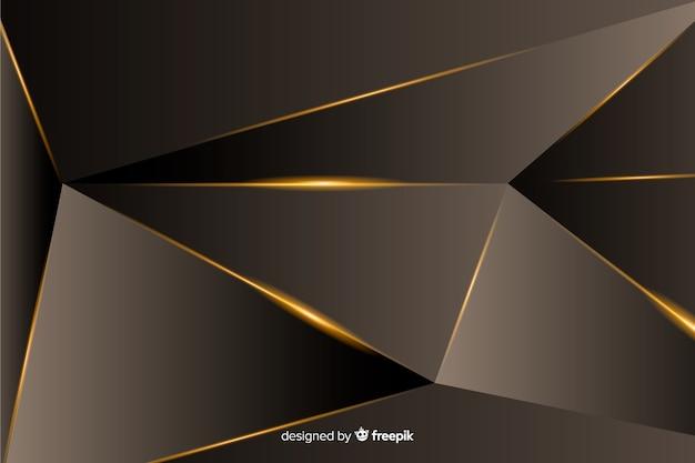Роскошный темный многоугольный фон Бесплатные векторы