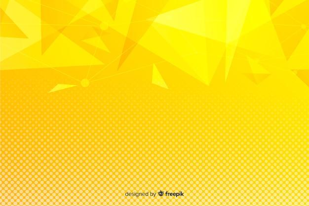 黄色の抽象的な幾何学的図形の背景 無料ベクター