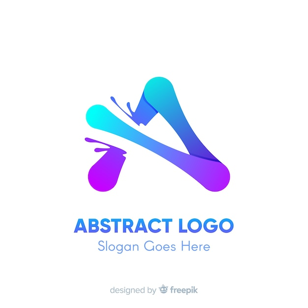 抽象的な形のグラデーションのロゴのテンプレート 無料ベクター