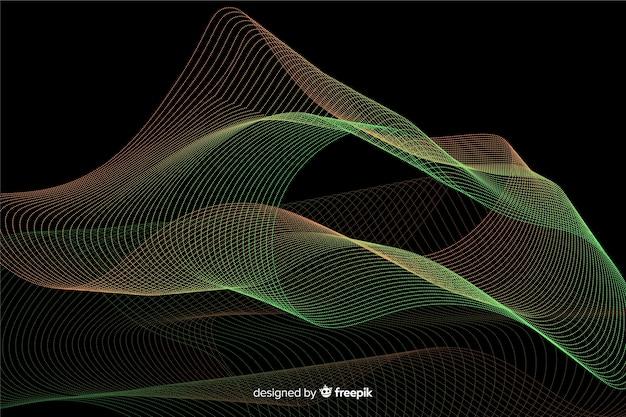 抽象的な光る粒子形状の背景 無料ベクター