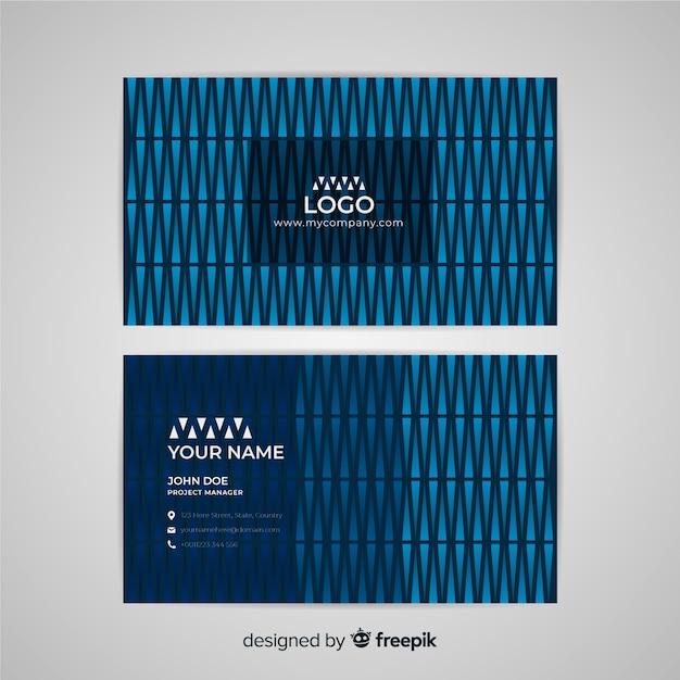 Шаблон абстрактных геометрических фигур визитной карточки Бесплатные векторы