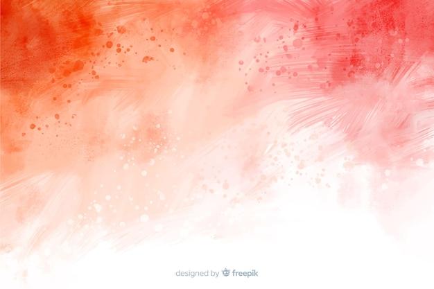 赤の抽象的な手描きの背景 無料ベクター