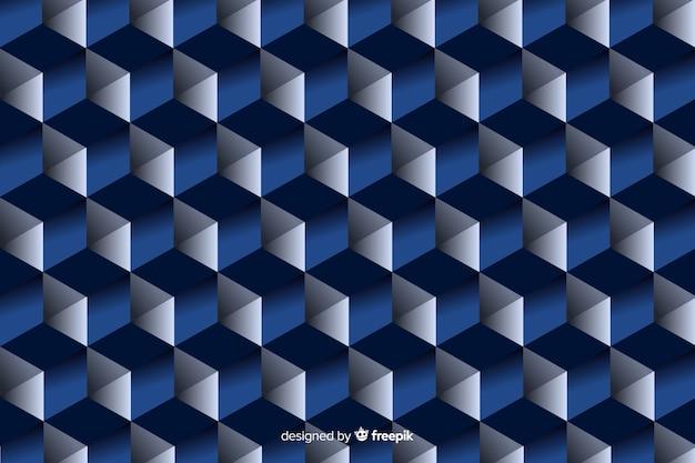 黒と青の幾何学的図形のデザイン 無料ベクター