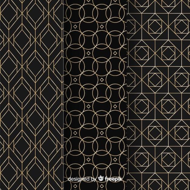 幾何学的な高級パターンコレクション 無料ベクター