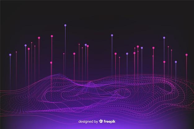 Фоновый дизайн системы градиентных данных Бесплатные векторы