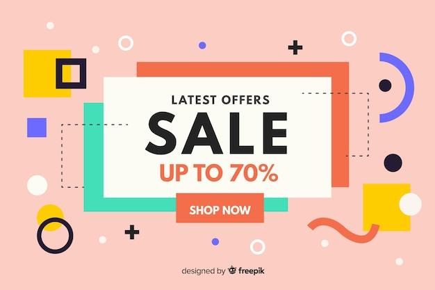 Плоский дизайн абстрактный фон продажи Бесплатные векторы