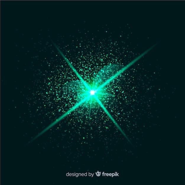 抽象的な緑爆発粒子効果 無料ベクター
