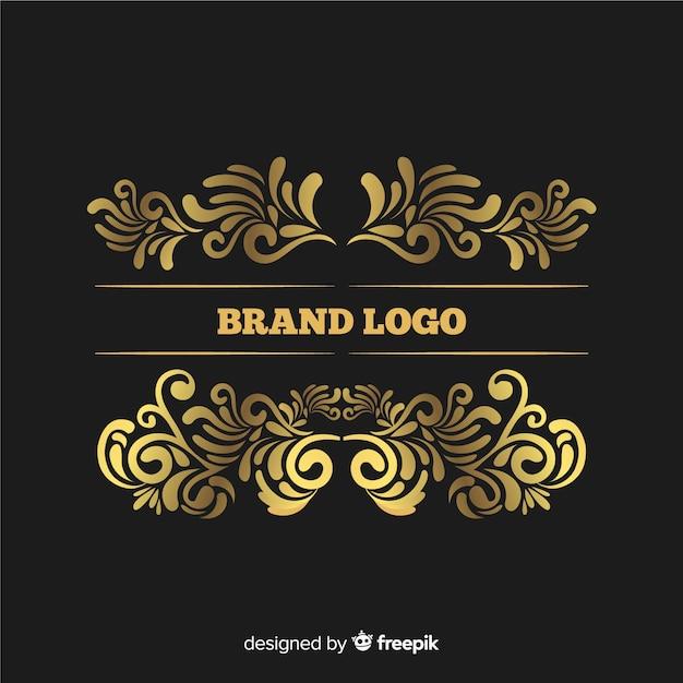Элегантный старинный декоративный логотип Бесплатные векторы