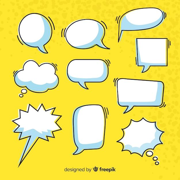 Коллекция комиксов речи пузырь Бесплатные векторы