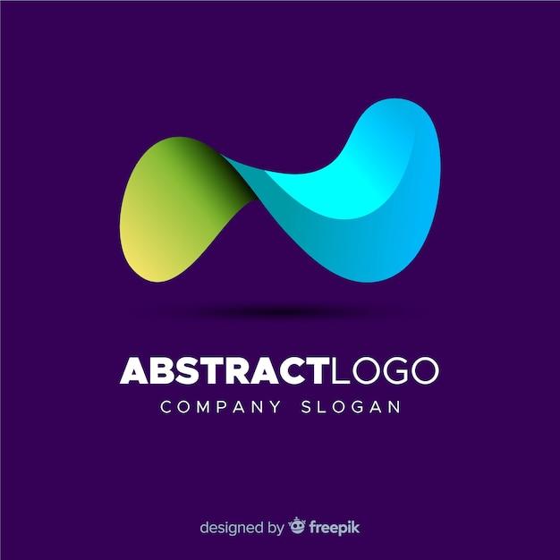 カラフルなグラデーションの抽象的なロゴのテンプレート 無料ベクター