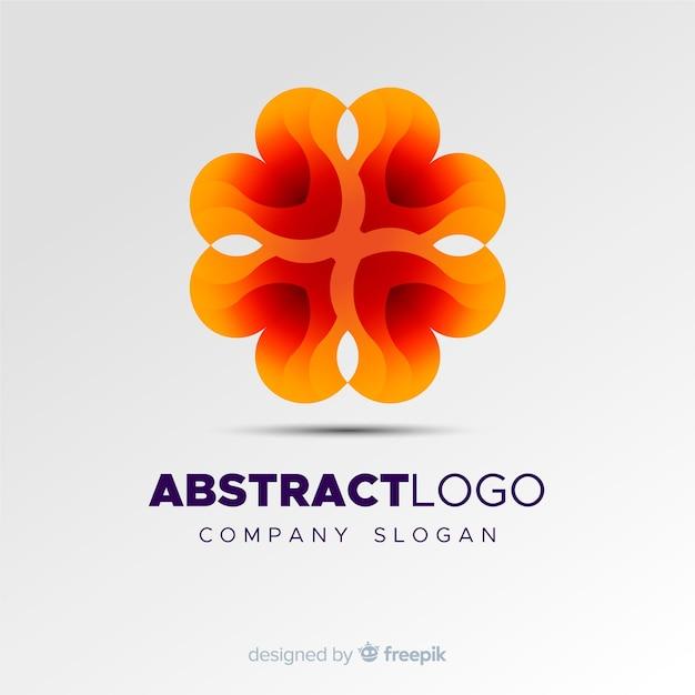 Красочный градиент абстрактный логотип шаблон Бесплатные векторы