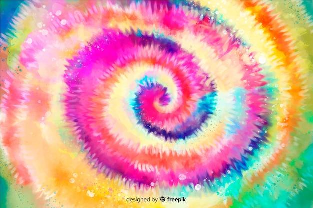 絞り染めスタイルの虹の背景 無料ベクター