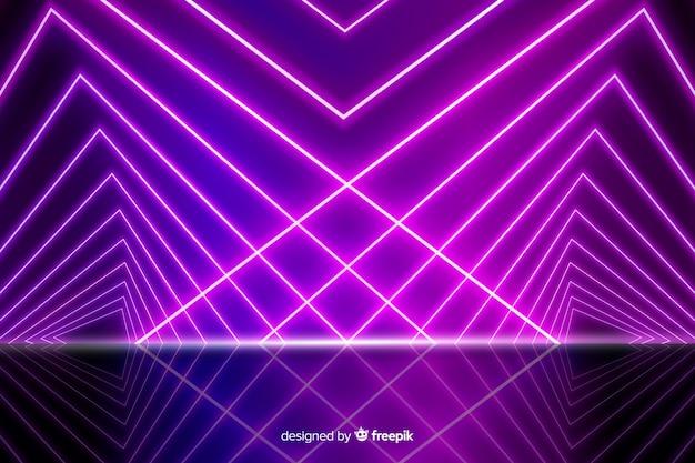 Фоновая неоновая подсветка сцены Бесплатные векторы
