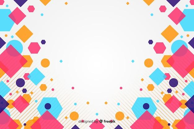 カラフルな正方形と抽象的な背景 無料ベクター