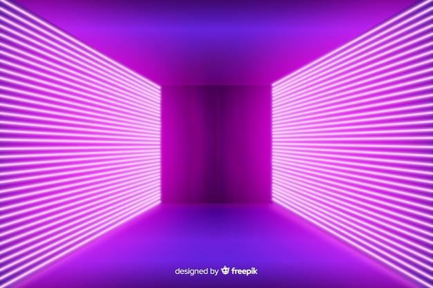 Неоновые розовые огни сценический фон Бесплатные векторы
