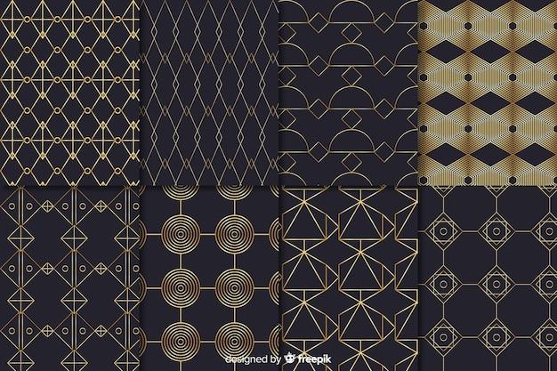 高級パターンコレクション図形コンセプト 無料ベクター