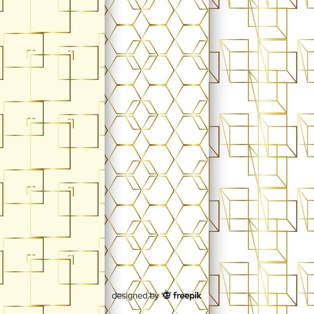 Роскошные формы шаблон коллекции фон Бесплатные векторы