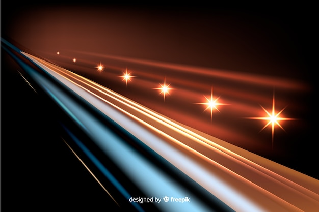 Фоновые огни тропа высокой скорости Бесплатные векторы