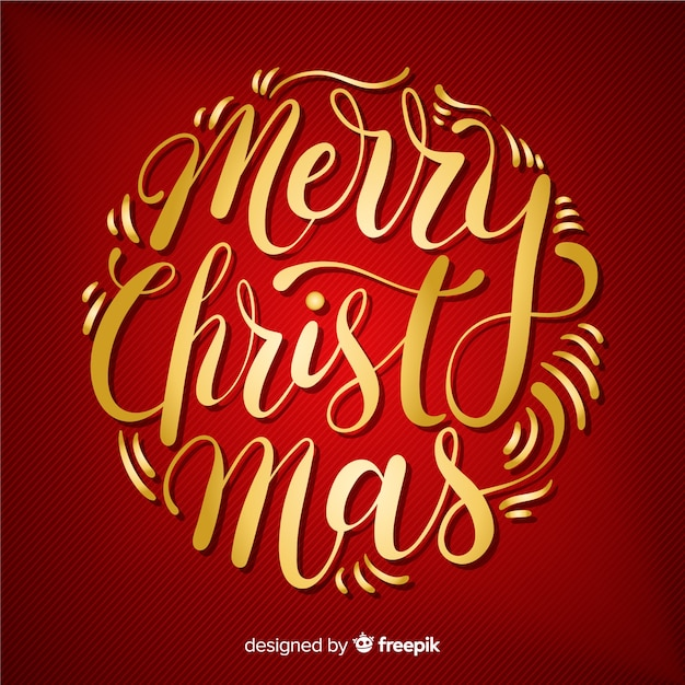 Красочные с рождеством надписи Бесплатные векторы