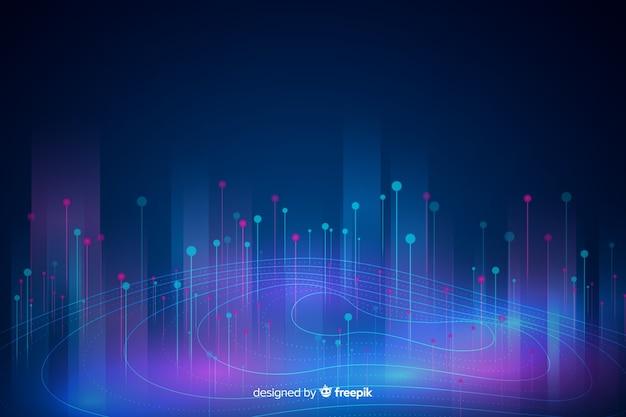 抽象的なビッグデータコンセプトの背景 無料ベクター