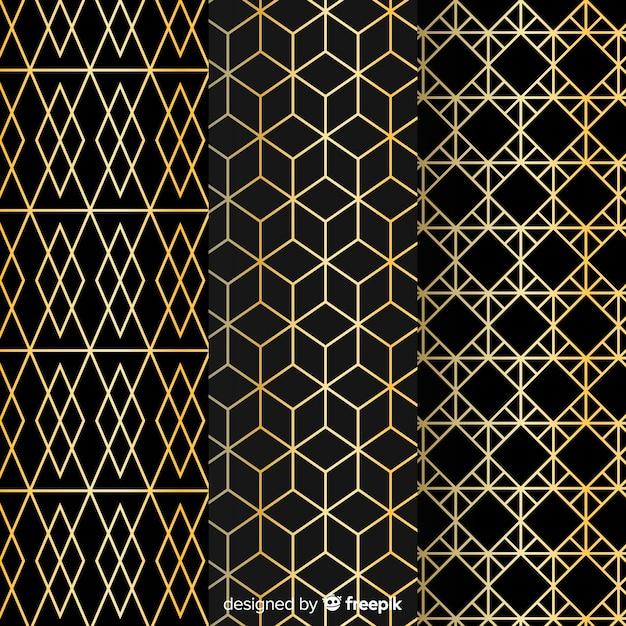 Элегантная коллекция геометрических узоров Бесплатные векторы