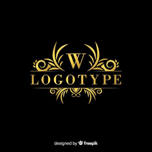 エレガントな装飾用ロゴのテンプレート 無料ベクター