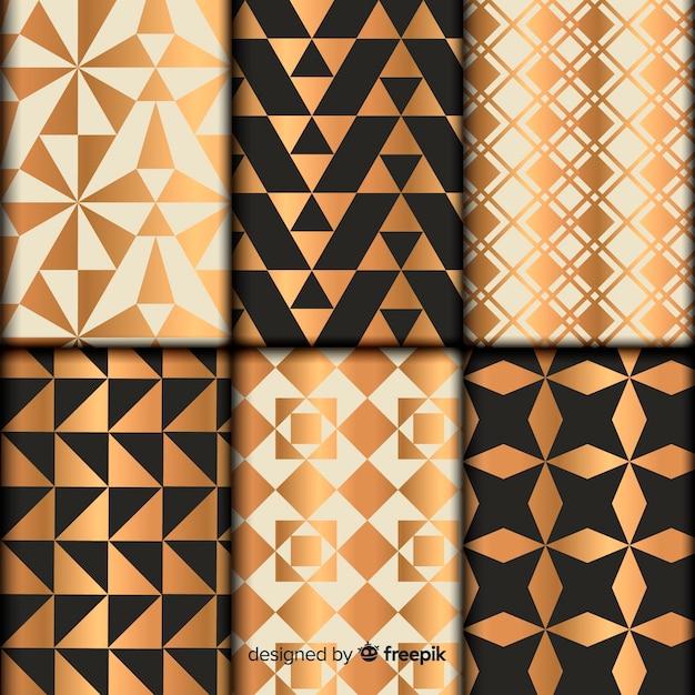 幾何学的形状のコレクションパターン 無料ベクター
