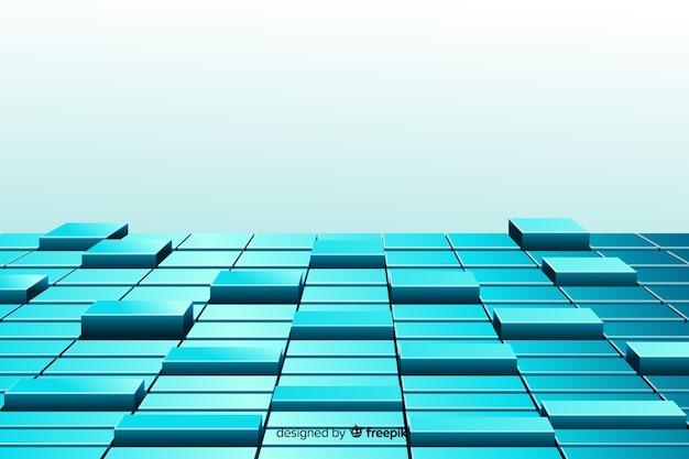 Фон кубов напольный реалистичный Бесплатные векторы