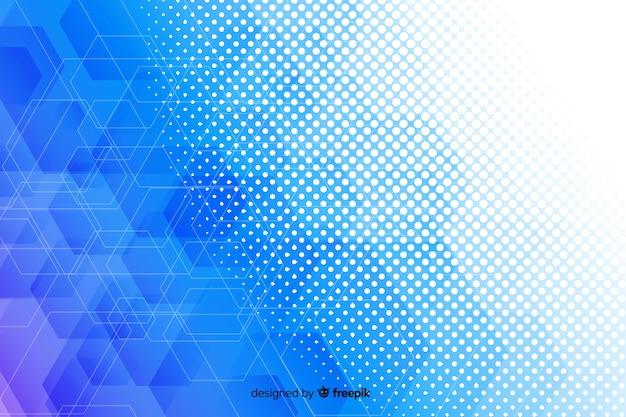 Гексагональной формы фон концепции Бесплатные векторы