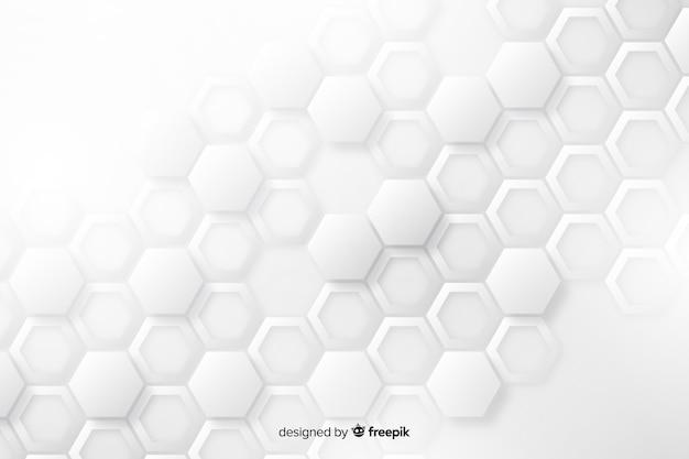 Дизайн фона в бумажном стиле геометрических фигур Бесплатные векторы