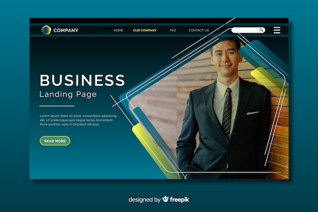 Бизнес-концепция целевой страницы Бесплатные векторы