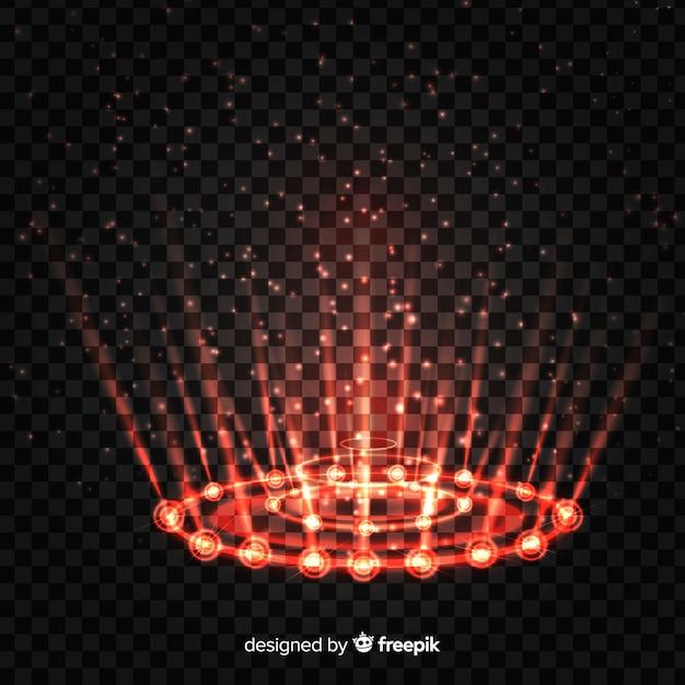 Декоративный красный световой эффект портала Бесплатные векторы