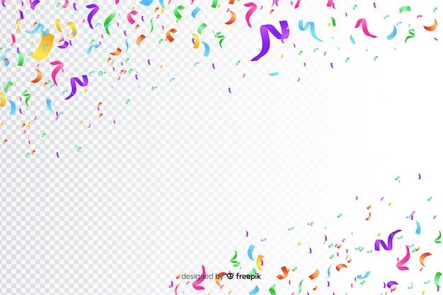 Реалистичные красочный фон конфетти Бесплатные векторы